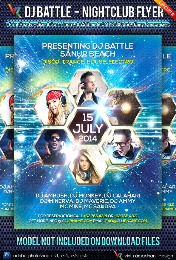 DJ Battle NightClub Flyer