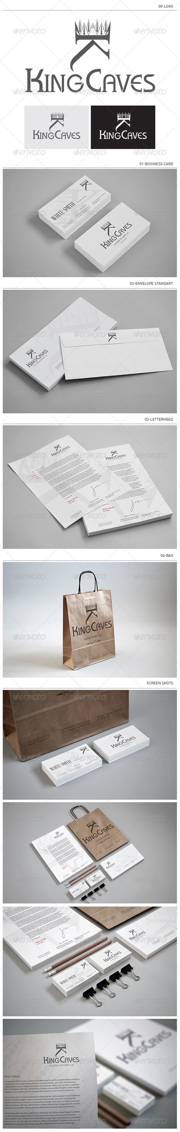 GraphicRiver King Caves Corporate Identity 4641895