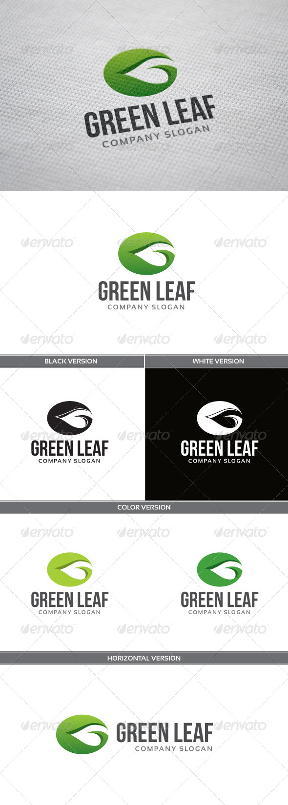 GraphicRiver Green Leaf Logo 4759213