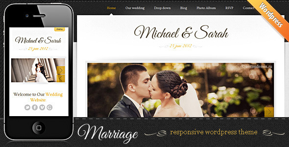 Marriage - Responsive Wedding WordPress Theme - Events Entertainment