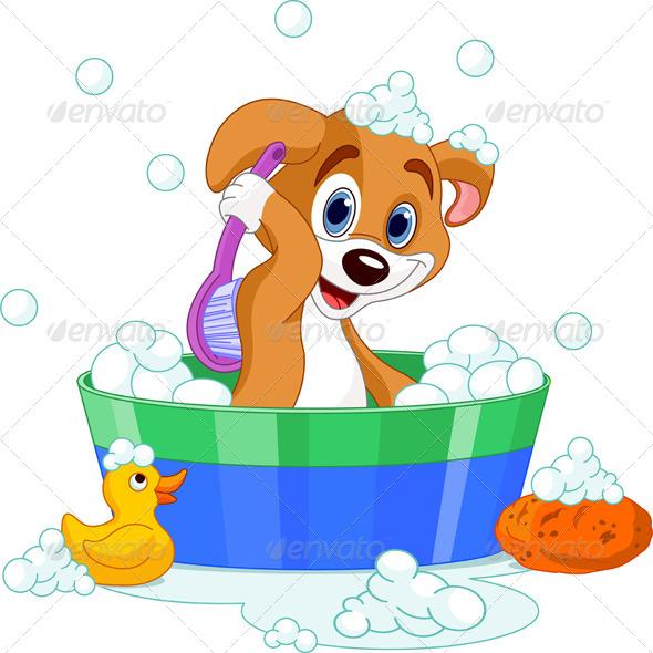 GraphicRiver Dog Having a Bath 4759434