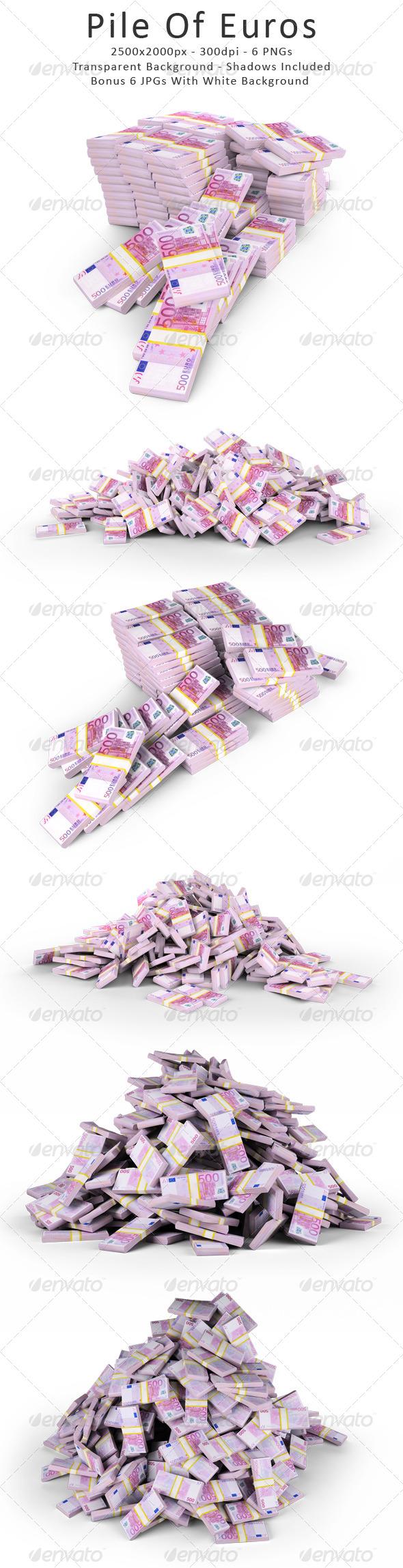 GraphicRiver Pile Of Euros 4759559
