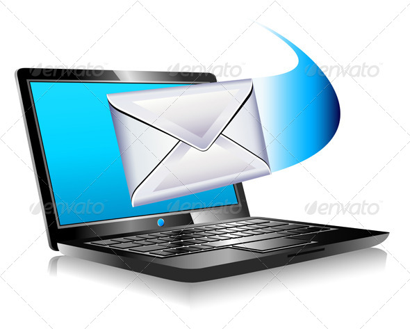 GraphicRiver Email Mailing the World SMS Laptop 4759733