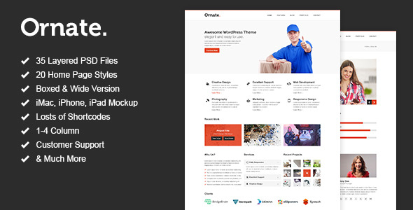 Ornate - Multi Purpose PSD Template