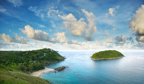Tropical sea scenery - Stock Photo - Images