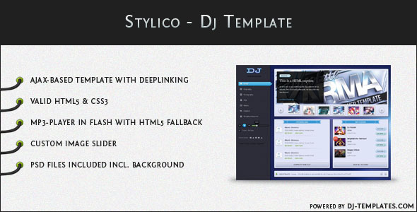 ThemeForest Stylico Dj Template 476481
