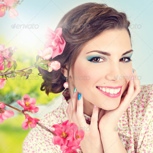 Spring beauty and makeup - Stock Photo - Images