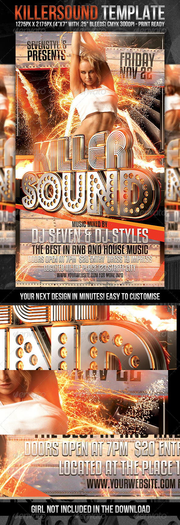 KillerSound Flyer Template - Clubs & Parties Events