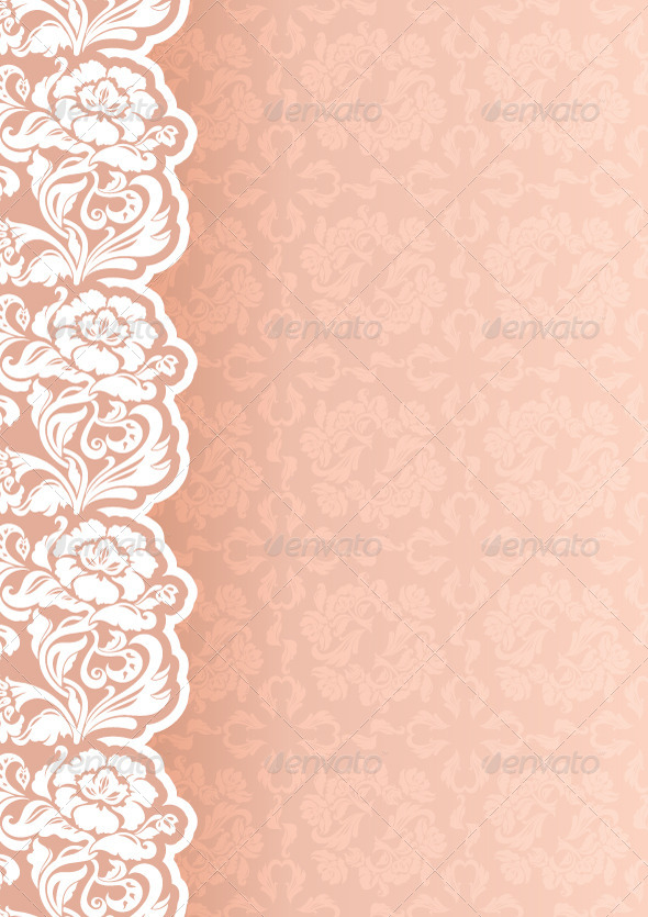 GraphicRiver Flower Background with Lace 4760423