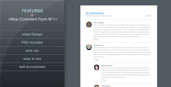 CodeCanyon Nice Comment Form NЎг1 4760433