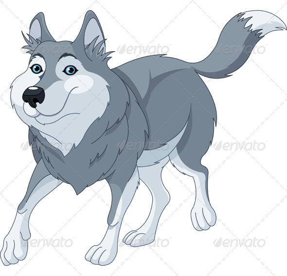 GraphicRiver Cartoon Wolf 4760435