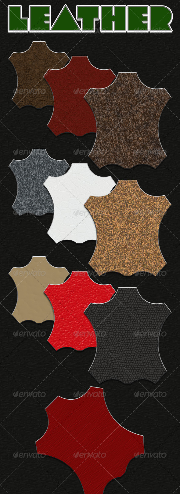 GraphicRiver Leather Seamless Tiling Patterns 4760501