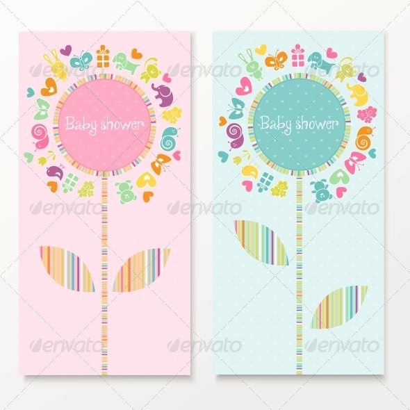 GraphicRiver Baby Shower Cards 4760507