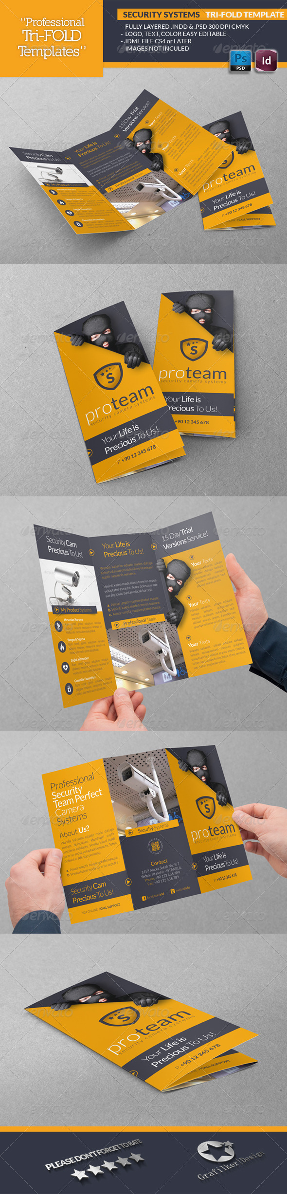 GraphicRiver Security Systems Tri-Fold Template 4760936