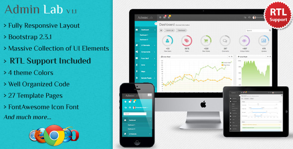 Admin Lab - Responsive Admin Template professional website template