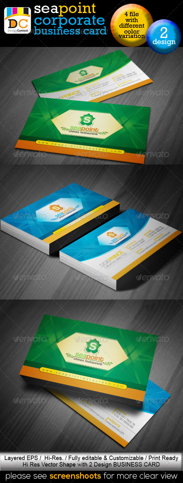 GraphicRiver SeaPoint Corporate Creative Business Cards 4577550