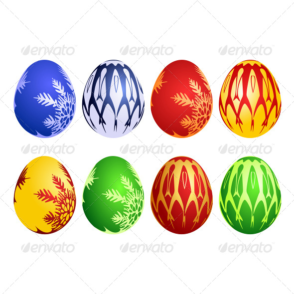 GraphicRiver Easter Egg Vector Set 4761068