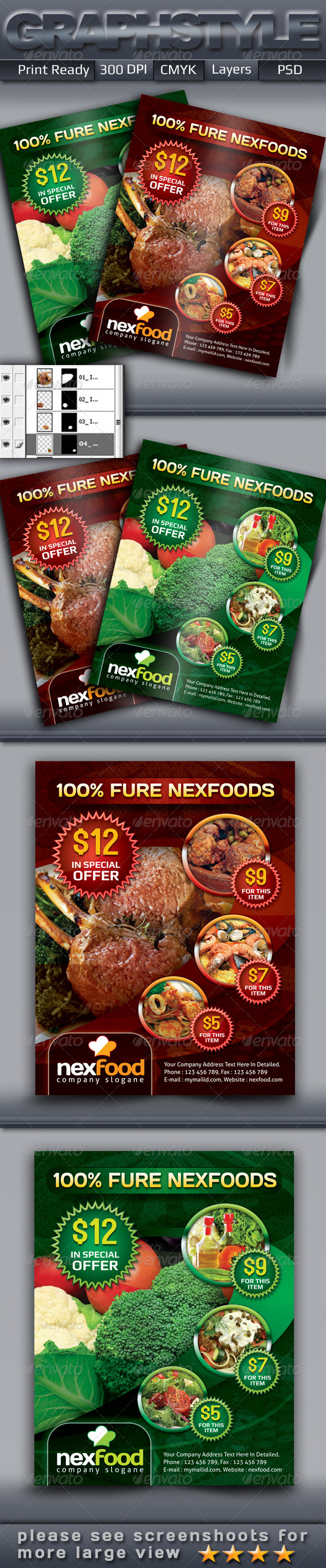 GraphicRiver Nexfood Restaurant Foods Flyers Add 4656260