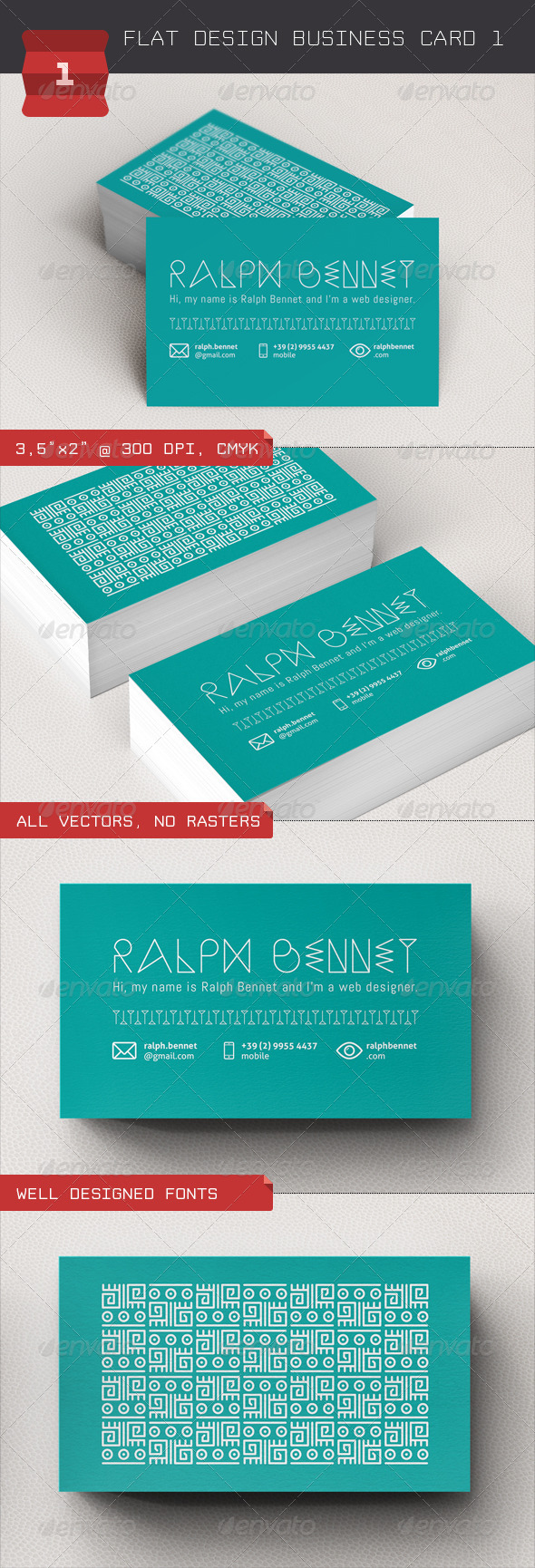 GraphicRiver Flat Design Business Card 1 4761354