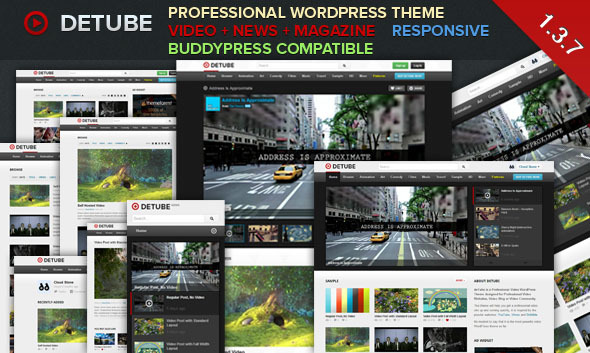 deTube - Professional Video WordPress Theme - Blog / Magazine WordPress