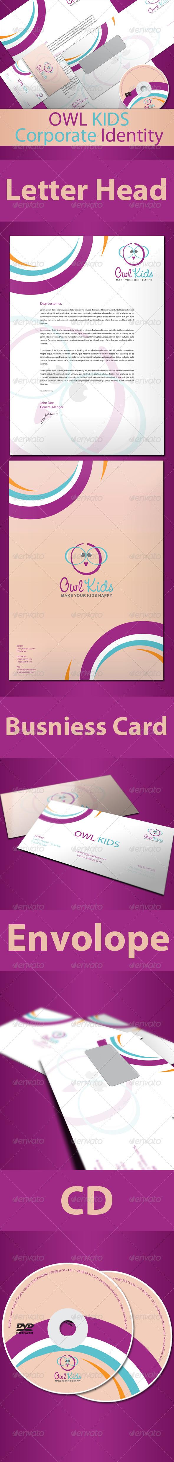 GraphicRiver Owl Kids Corporate Identity 496451