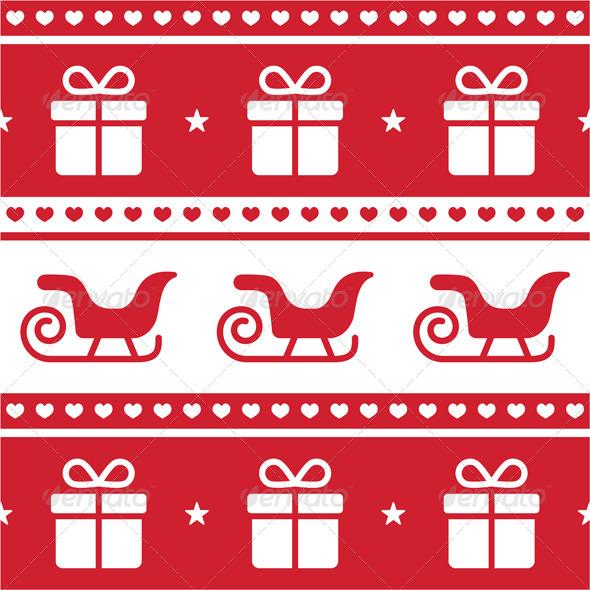 Christmas card, seamless pattern