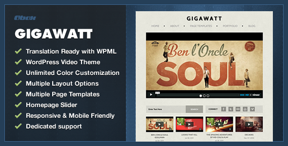 Gigawatt - WordPress Video Theme - Creative WordPress