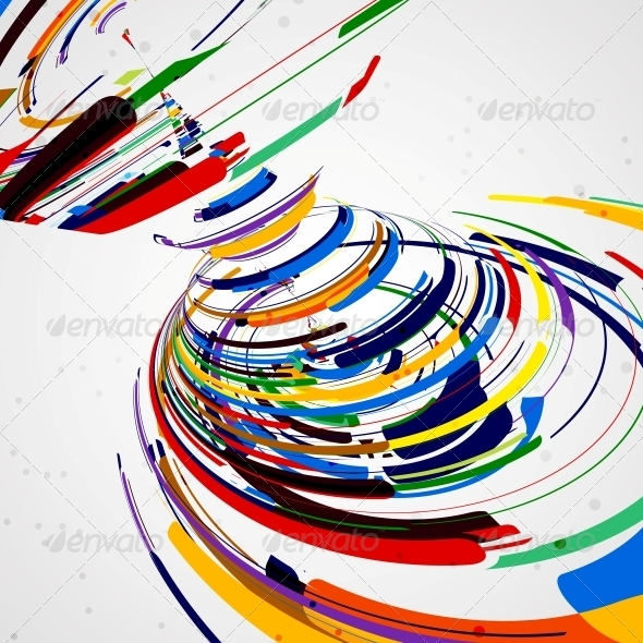 GraphicRiver Futuristic Abstract Shape Illustration 4761520