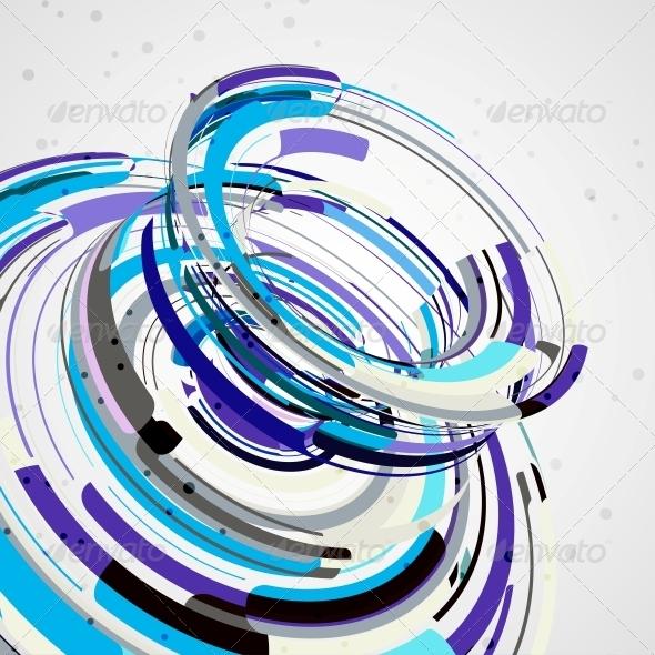 GraphicRiver Futuristic Abstract Shape Illustration 4761521