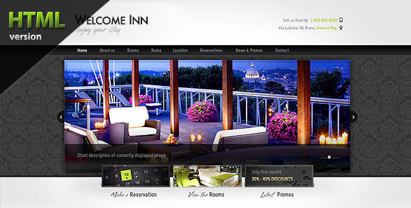 Welcome Inn, Spa & Ski Resort HTML Theme - Travel Retail