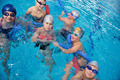 happy children group  at swimming pool - PhotoDune Item for Sale