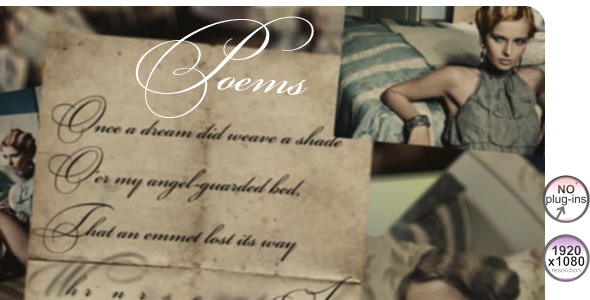 After Effects Project - VideoHive Poems 496469