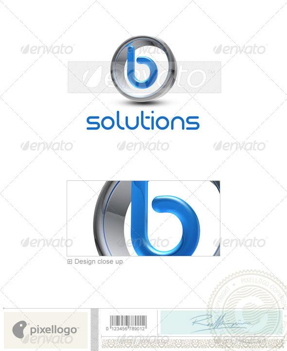 B Logo 3D-288-B