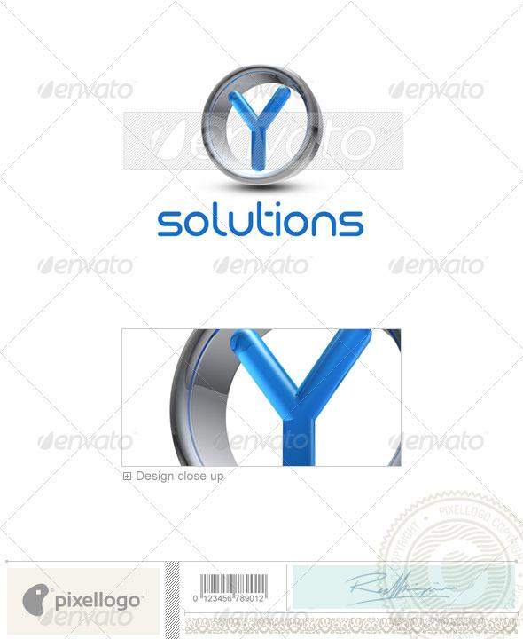 Logo - 3D-288-Y ...Y Logo 3d