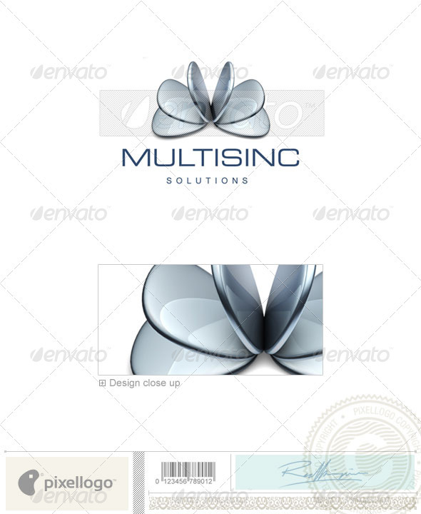 GraphicRiver Industry & Science Logo 3D-412 496541