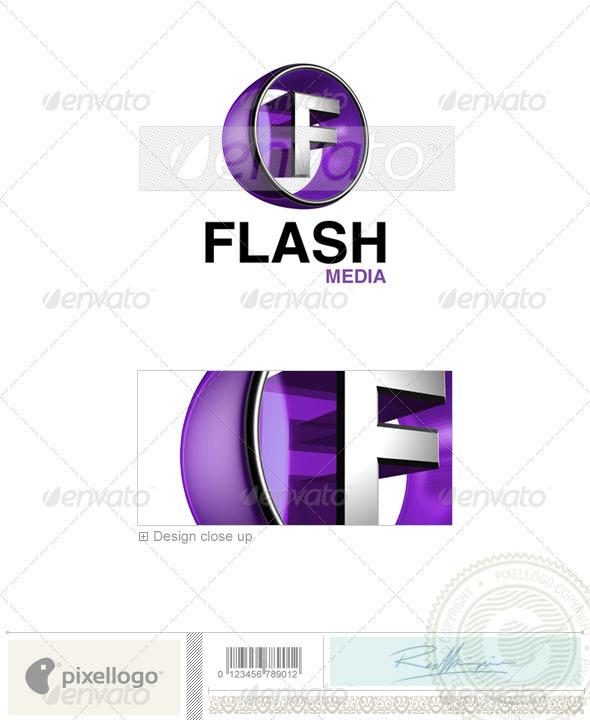 F Logo 3D-438-F