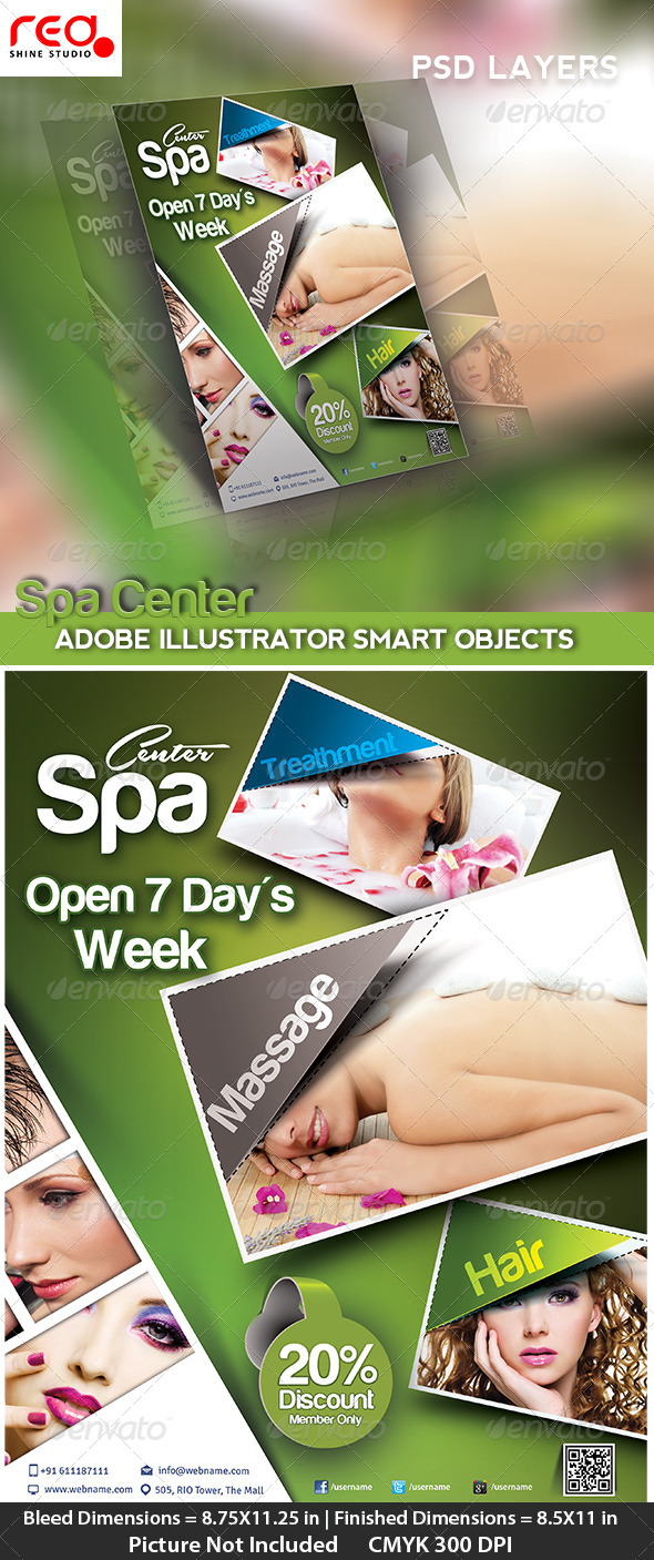 GraphicRiver Beauty Salon Poster flyer & Magzine Cover Template 4762254
