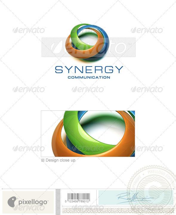 Communications Logo 3D-229