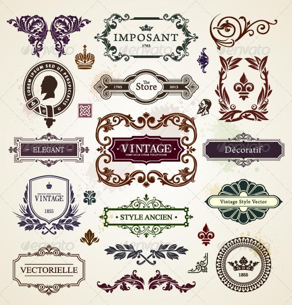 GraphicRiver Vintage Design Elements 4762300
