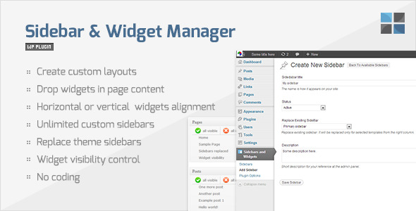 Sidebar & Widget Manager for WordPress - CodeCanyon Item for Sale