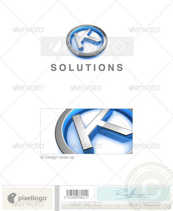 Logo - 3D-683-K ...K Logo 3d