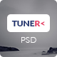 Tuner - One Page Portfolio PSD Template - ThemeForest Item for Sale