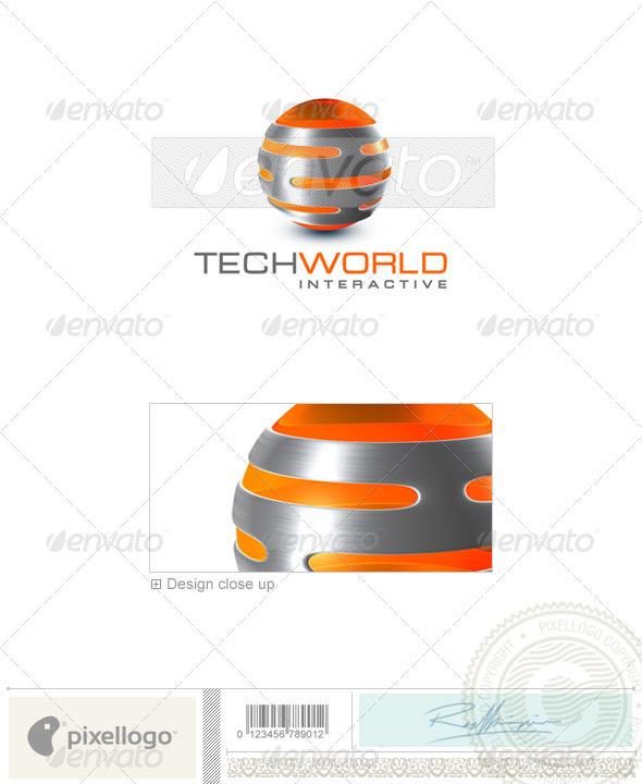 Technology Logo - 3D-334