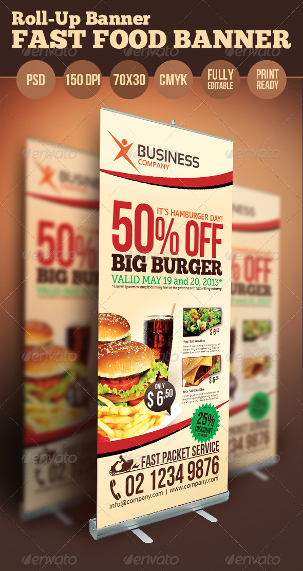 Fast Food Banner - Signage Print Templates
