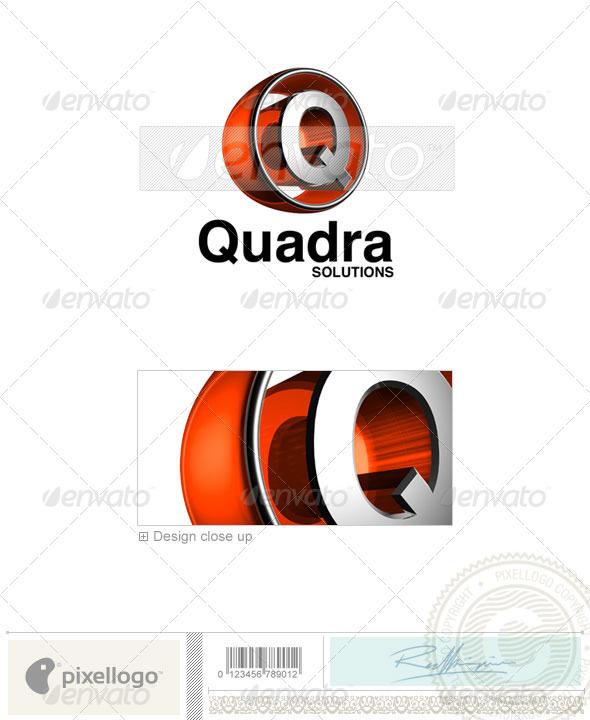 Logo - 3D-438-Q ...Q Letter Logo