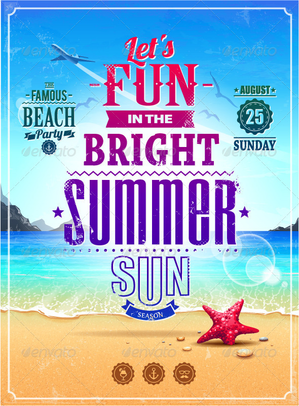 GraphicRiver Summer Retro Poster 4762608