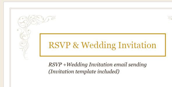 CodeCanyon RSVP and Wedding Invitation 4762690