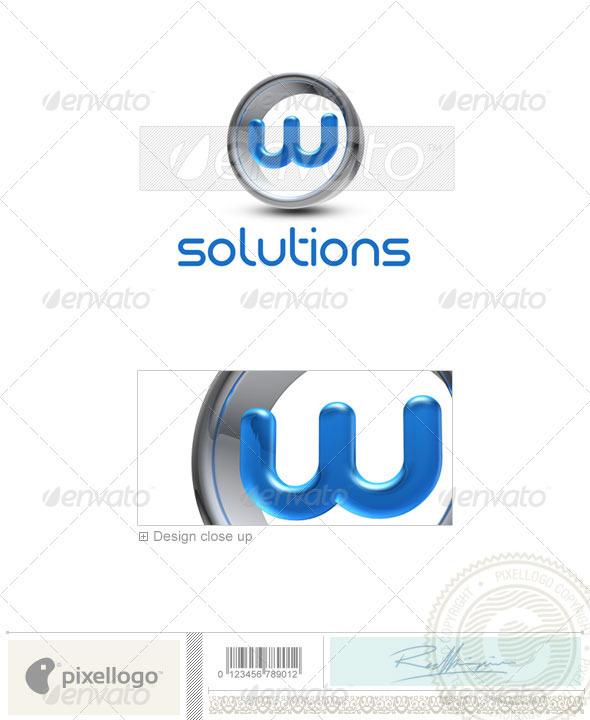 W Logo 3D-288-W