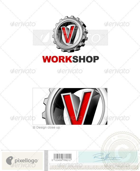 V Logo 3D-292-V