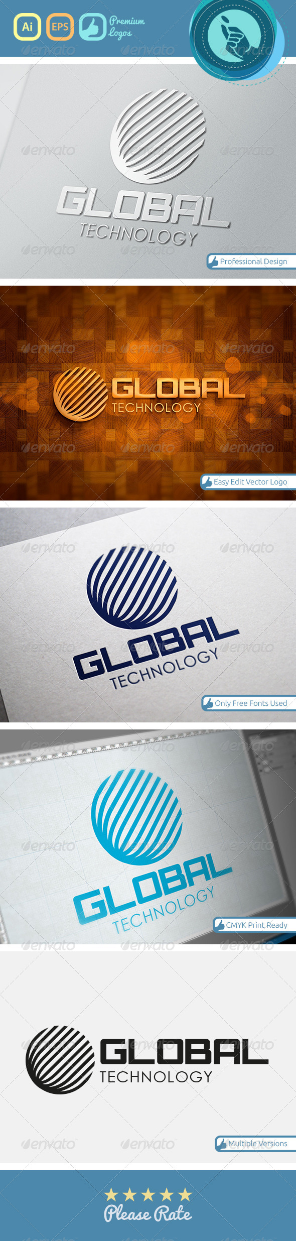 GraphicRiver Global Technology Logo 4762732